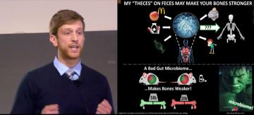 Jason Guss presenting his thesis
