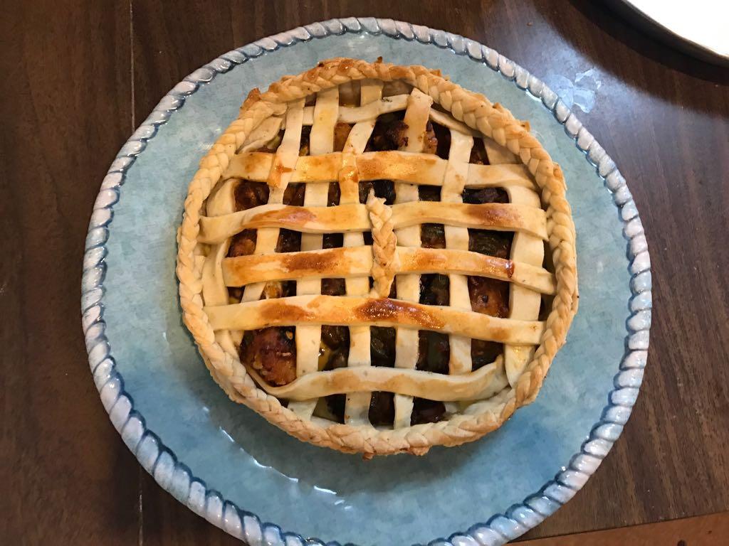 Braided Kadai Gobi Pie (baked by graduate student Deepa Panduangi)