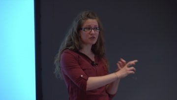 Kristen Smiley competing at the 2017 Three Minute Thesis Competition