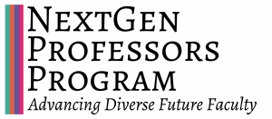 NextGen Professors Program logo with subtitle reading Advancing Diverse Future Faculty