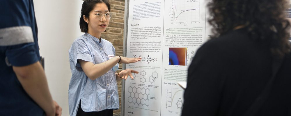 Graduate students present their posters at the 2017 Center for Materials Research (CCMR) Symposium.