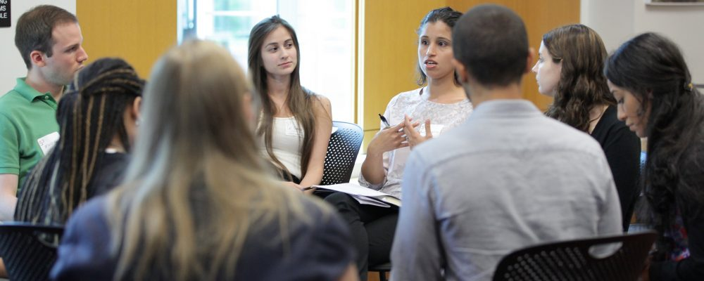 Students in an academic job search discussion at the 2015 S3 Symposium
