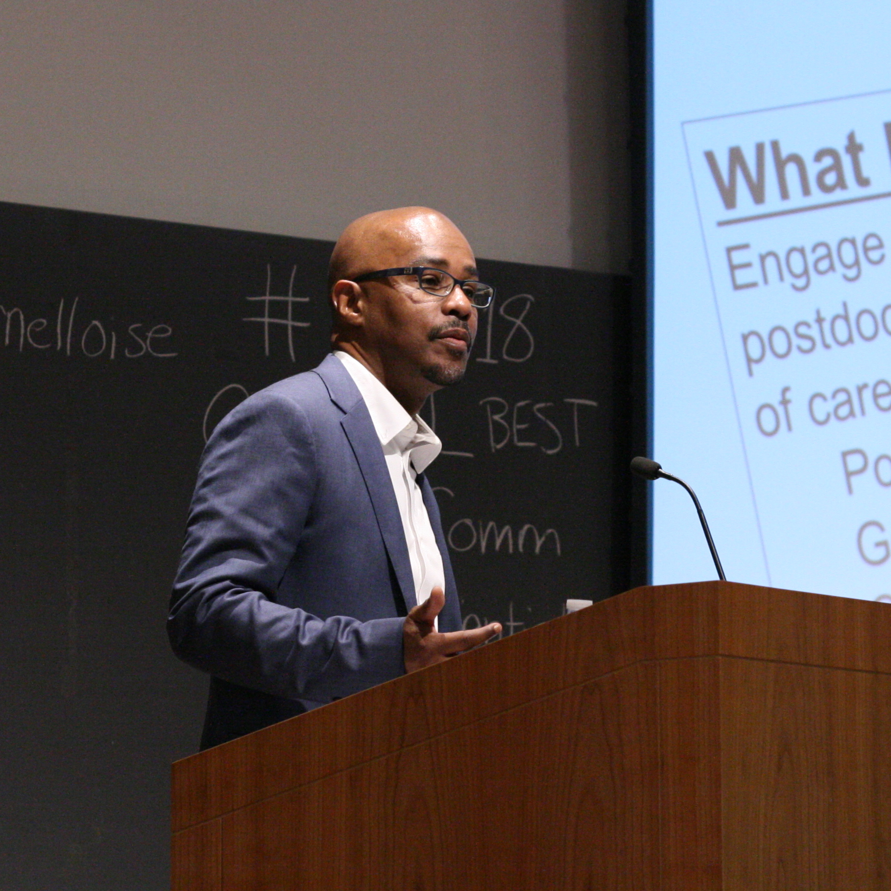 Professor and Vice Provost Avery August at the Summer 2018 Pathways to Success Symposium