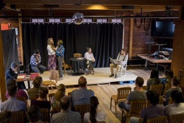 Students and community members came together for a performance at the Big Red Barn.