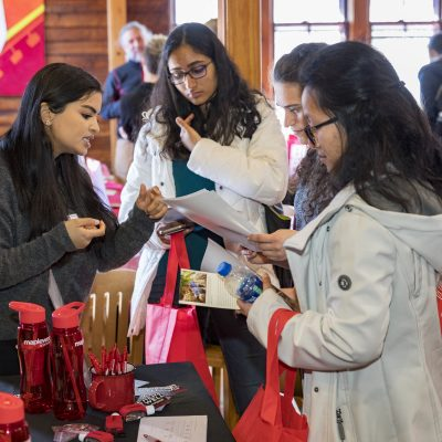 Spring resource fair for admitted chemical engineering students at the Big Red Barn