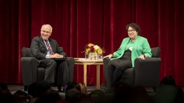 Sonia Sotomayor at fireside chat in Bailey Hall