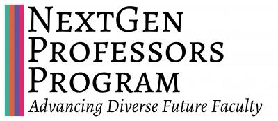 NextGen Professors logo, subtitled Advancing Diverse Future Faculty