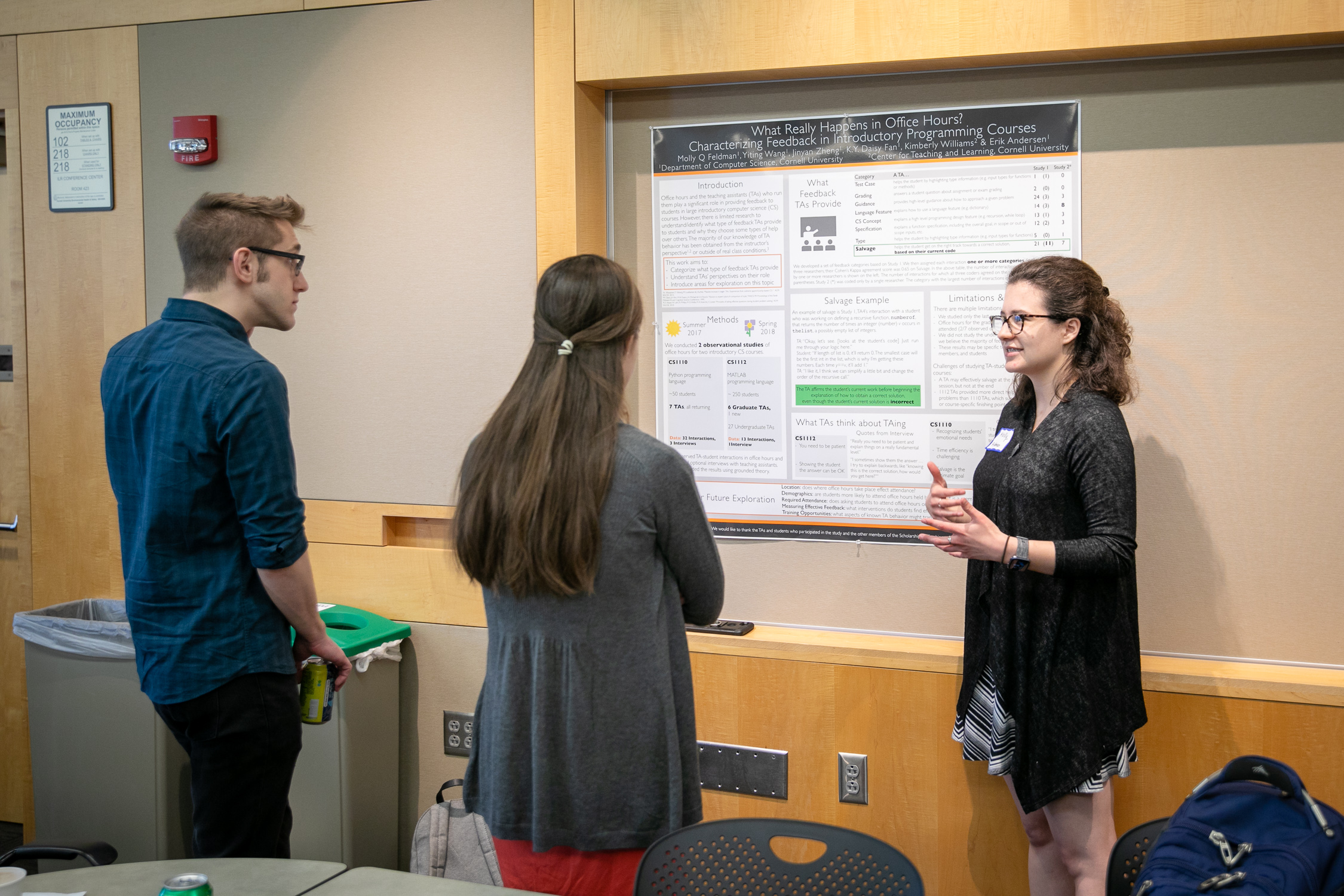 Molly Feldman presenting her Teaching as Research project