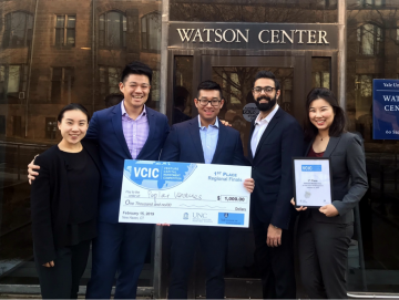 Left to right: Anita Xu, Brian Guo, Rick Wang, Rahul Kumar, and Wenni Cai