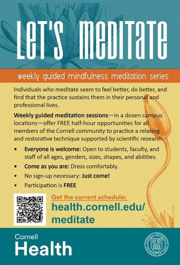 Let's Meditate flyer: information found in page content