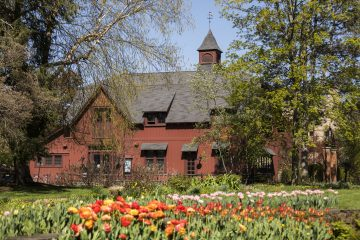 Big Red Barn in spring