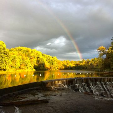 Rainbow over Beebe Lake