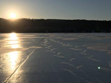Frozen Beebe Lake