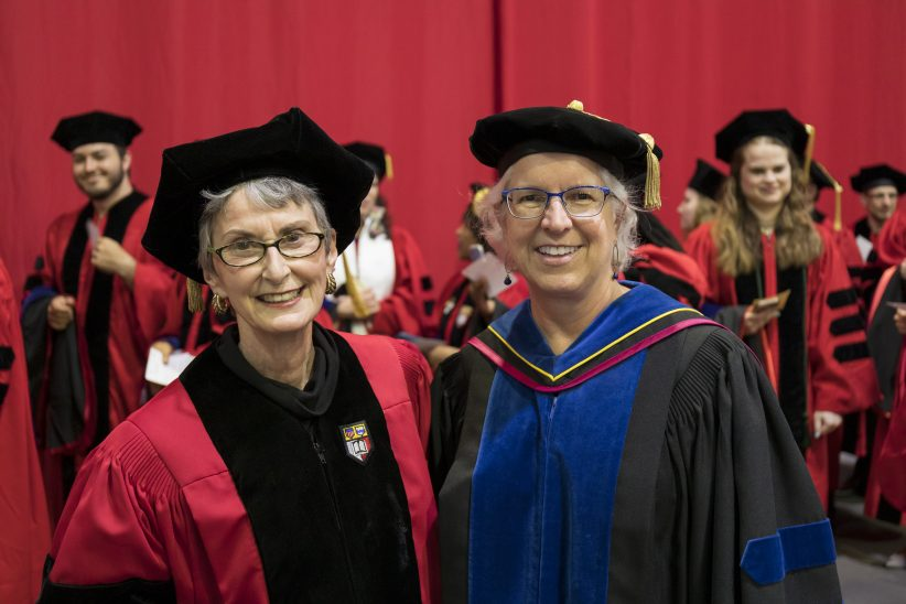 Pamela Strausser with Graduate School Dean Barbara A. Knuth