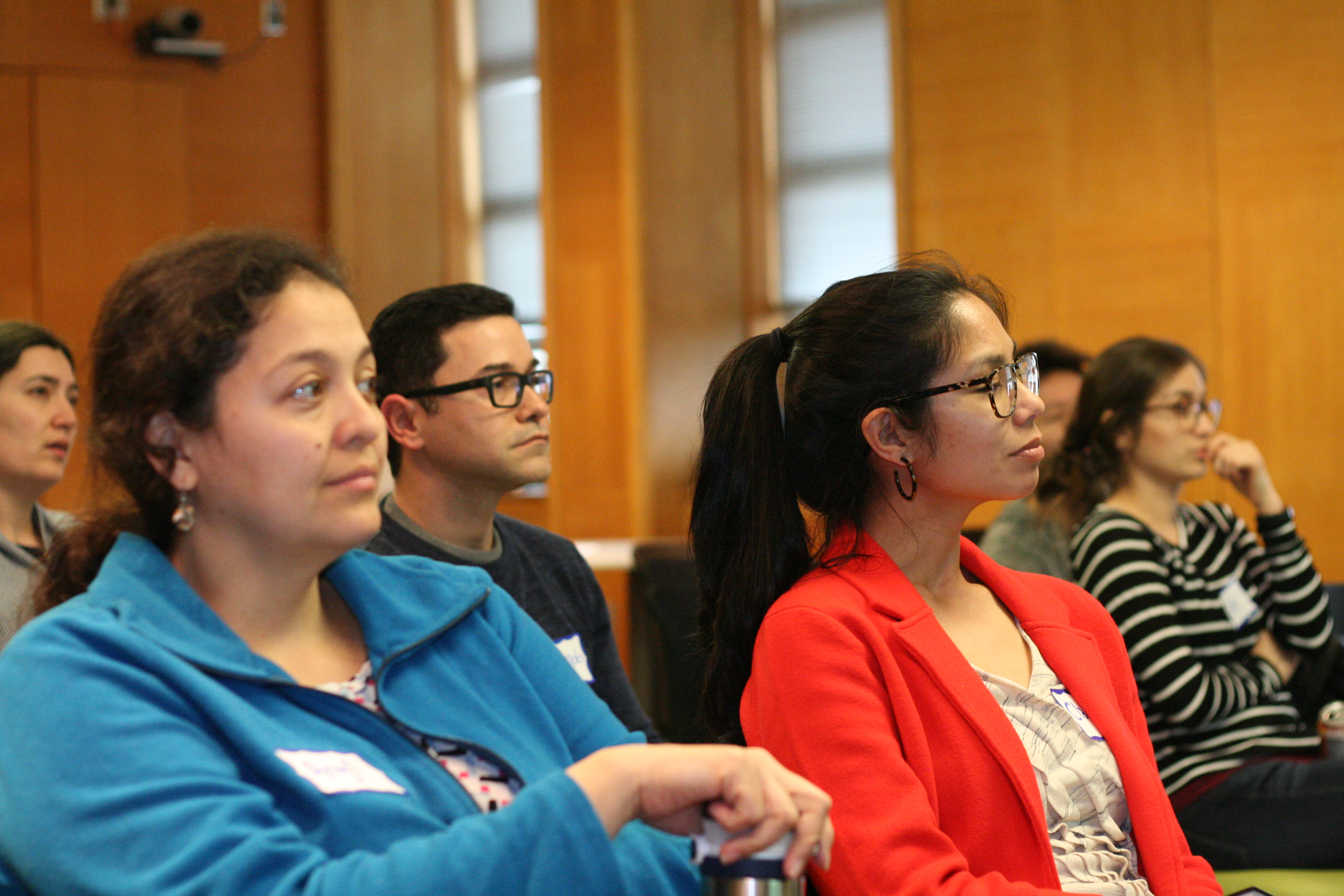 2018-2019 NextGen Professors listen to a presentation