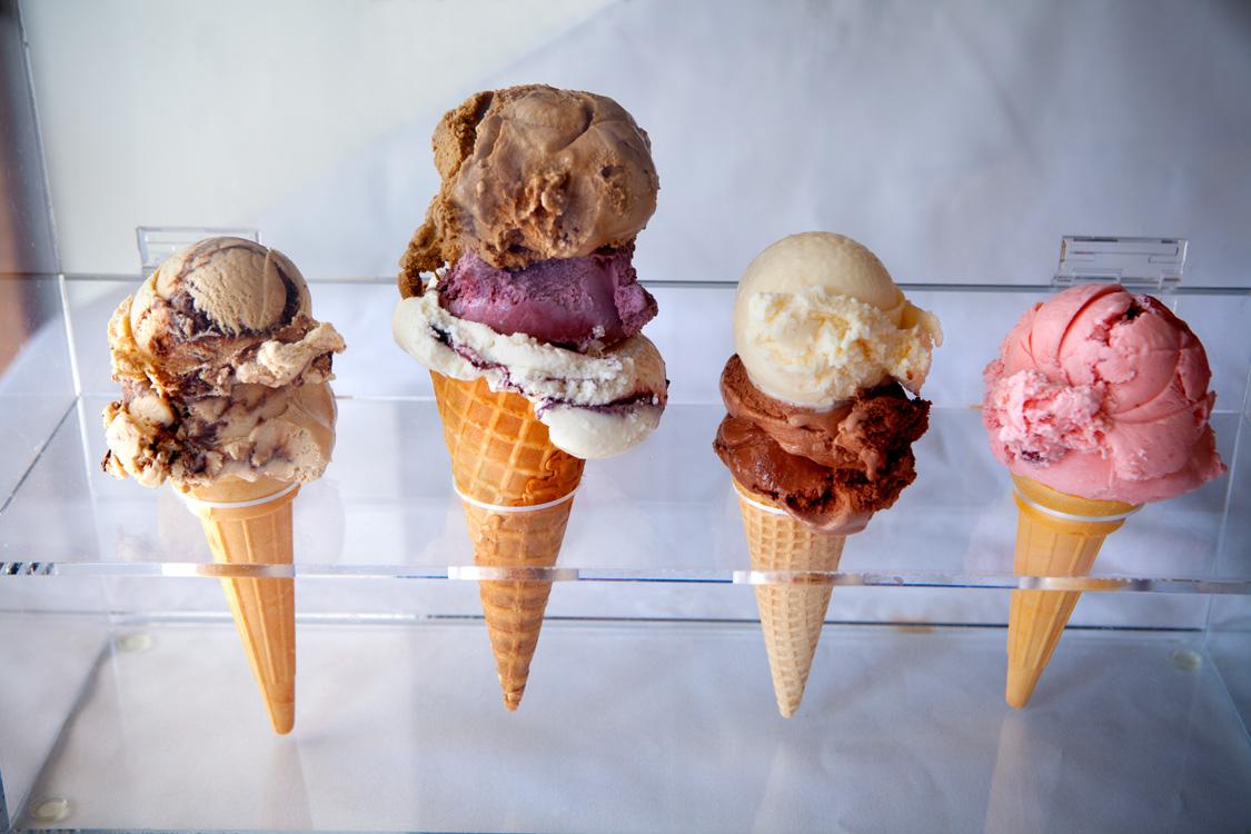 Photo of four ice cream cones