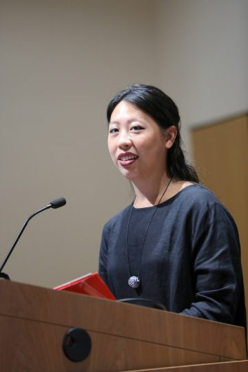 Diane Wong giving the Summer Success Symposium keynote speech