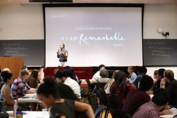 Francine Marquis of Google speaking during the #IamRemarkable workshop