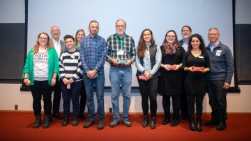 University provost, staff, and winners of the 2019 Cornell University Partners in Sustainability Awards