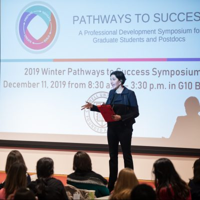 Eliza VanCort presents a workshop at the Winter 2019 Pathways to Success Symposium