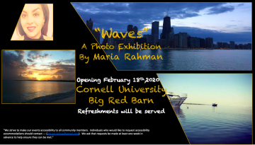 Waves, a photo echibition. Opening february 18th, 2020, Big Red Barn. Refreshments will be served.