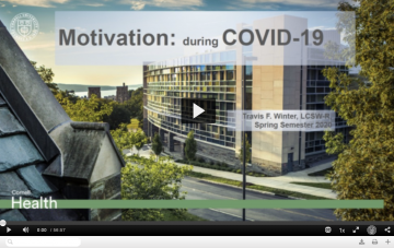 Screen capture of Motivation During COVID-19 presentation
