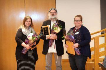 2019 Unsung Hero Awardees (from left to right) Belinda Floyd, Eric Maroney, and Tara Reed