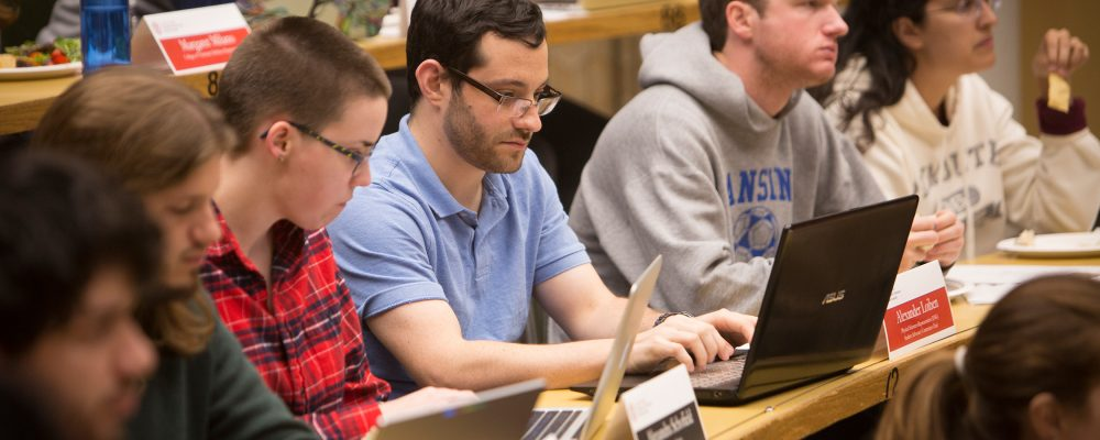 Students at a GPSA meeting
