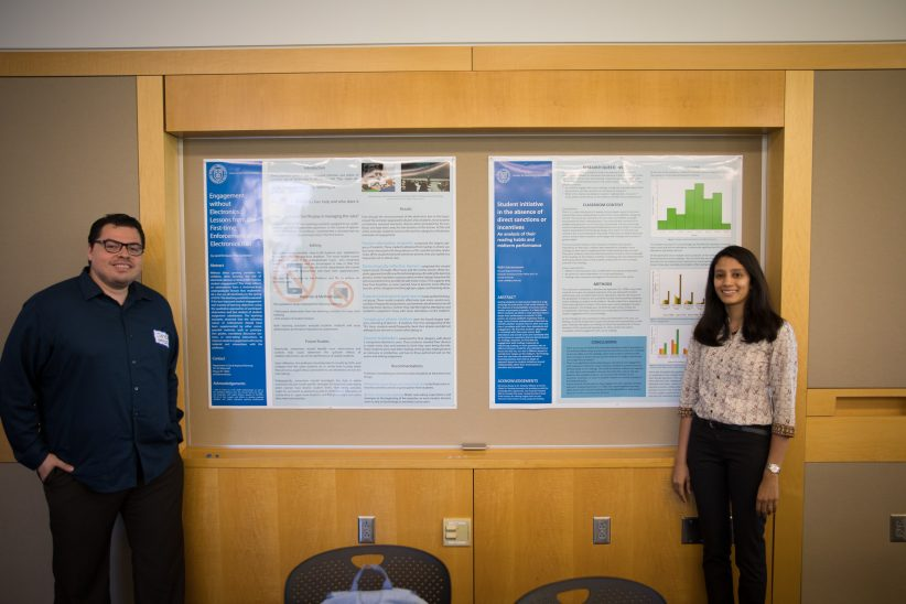 Jared Enriquez and Nidhi Subramanyam present research on teaching in 2018
