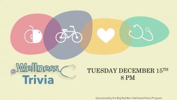 Wellness Trivia, Tuesday December 15, 8pm