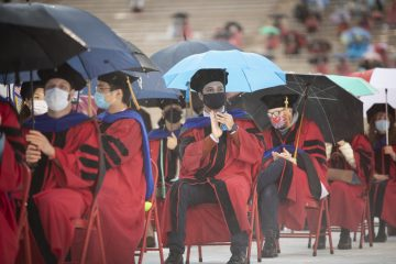 Doctoral candidates at the Ph.D. Ceremony