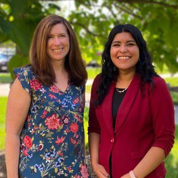 Professor Cindy Leifer and doctoral candidate Karla García-Martínez