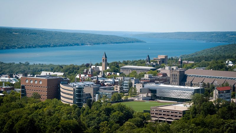 Aerial view of Cornell's Ithaca campus