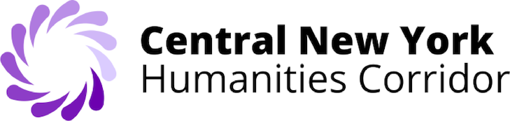Central New York Humanities Corridor logo with a purple swirl
