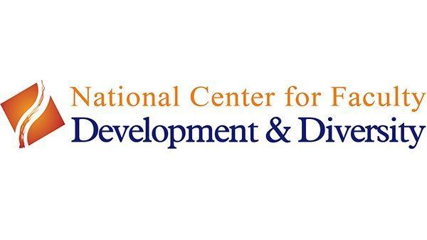 National Center for Faculty Development & Diversity logo with orange diamond