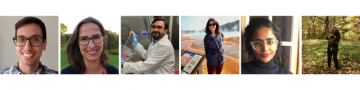 Frank Castelli '05, M.S. '14, Ph.D. '17; Annika Huber, Ph.D. '19; Javier Jaimes, Ph.D. '19; Melisa Medina-Rivera; Mathura Umachandran; and Sophia Ziemian, Ph.D. '20