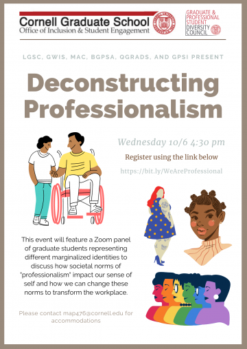 Deconstructing Professionalism flyer