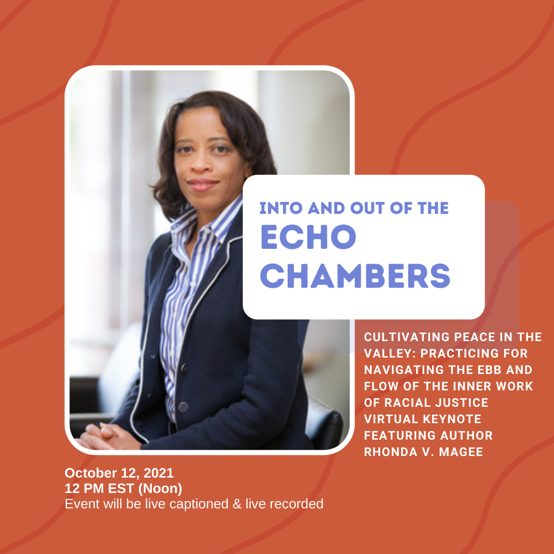 Event flyer with photo of speaker Rhonda V. Magee