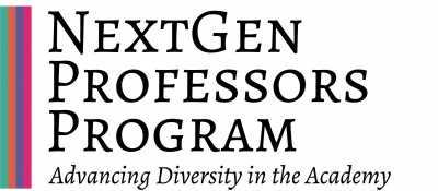 NextGen Professors Program Advancing Diversity in the Academy logo with four brightly colored lines